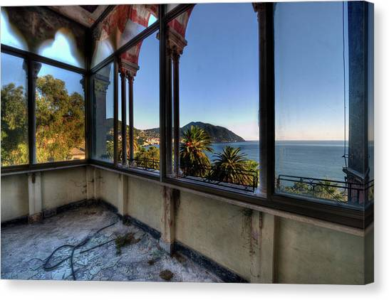 Villa Of Windows On The Sea - Villa Delle Finestre Sul Mare II Canvas Print