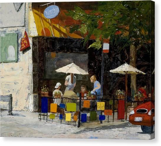 Village Brunch Canvas Print by Nancy Albrecht