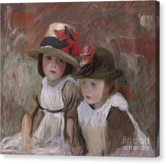 Pinafores Canvas Print - Village Children, 1890 by John Singer Sargent