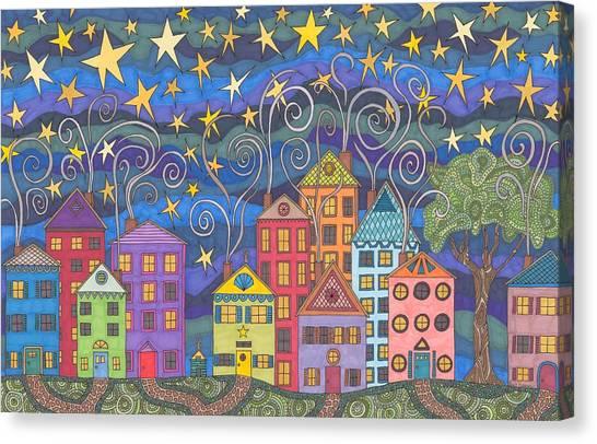 Village Lights Canvas Print