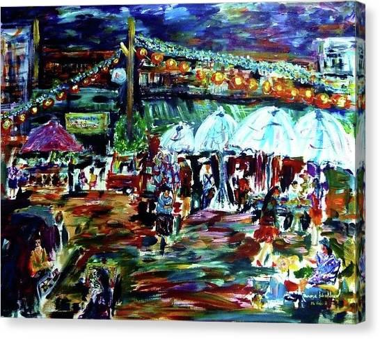 Village Nights Canvas Print