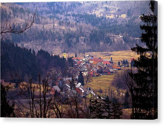 Village Of Lokve In Gorski Kotar  Canvas Print