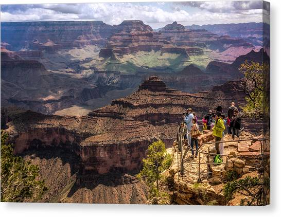 Canvas Print featuring the photograph Village Rim Trail by Claudia Abbott