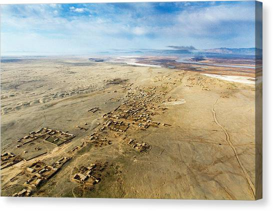 Village Toward Amu Darya River Canvas Print