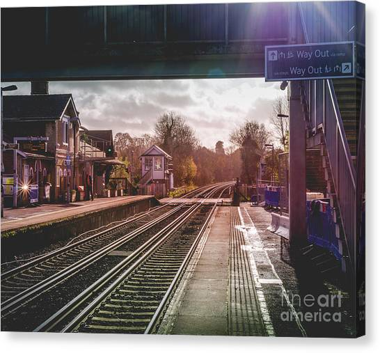 The Village Train Station Canvas Print