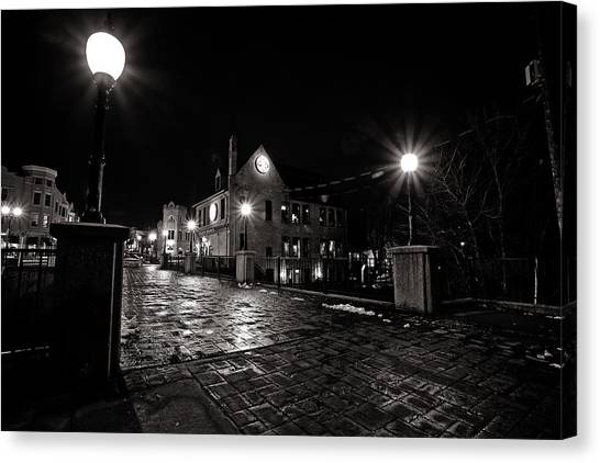 Village Walk Canvas Print