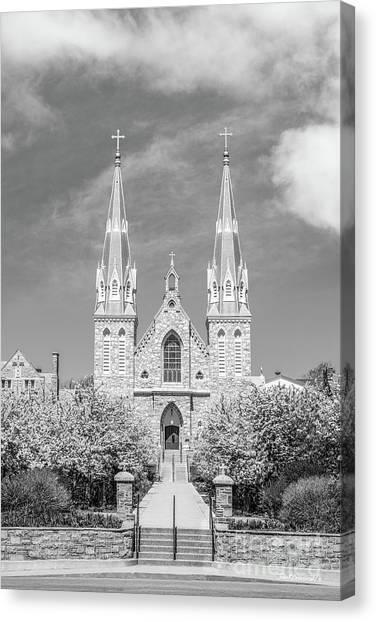 University Of Pennsylvania Canvas Print - Villanova University St. Thomas Chapel by University Icons