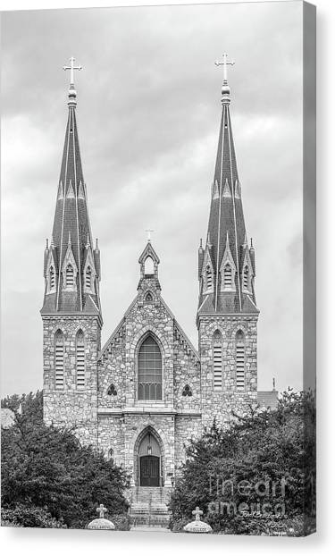 Graduation Canvas Print - Villanova University St. Thomas Of Villanova Church by University Icons