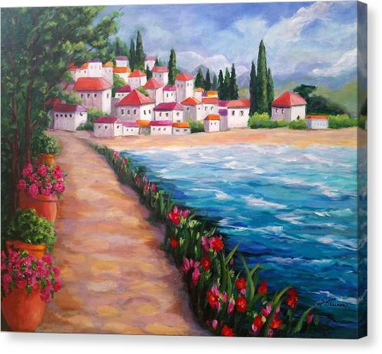 Villas By The Sea Canvas Print