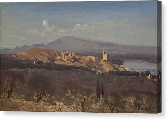 Camille Canvas Print - Villeneuve-les-avignon by Jean-Baptiste-Camille Corot