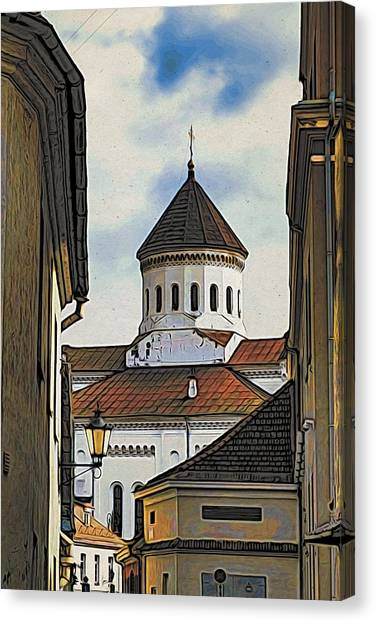 Canvas Print - Vilnius Old City by Steven Richman