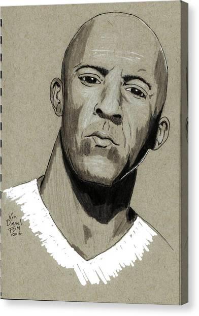 Vin Diesel Canvas Print