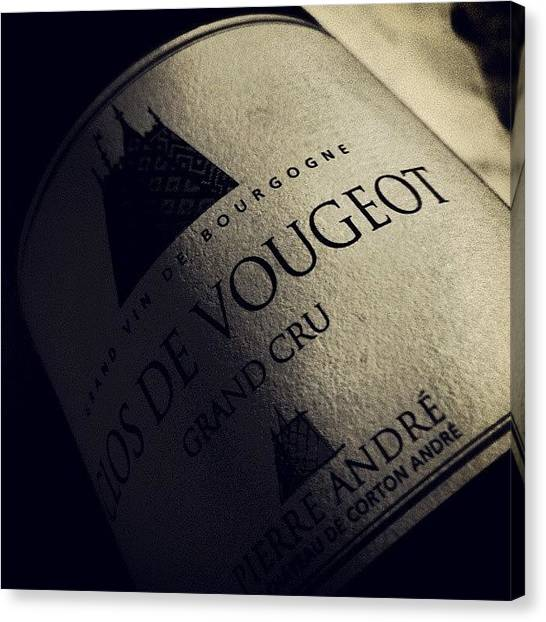 Red Wine Canvas Print - #vin #vino #wine #borgogna Bourgogne by Federico Rosati