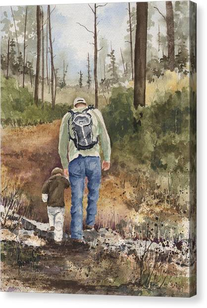 Dad Canvas Print - Vince And Sam by Sam Sidders