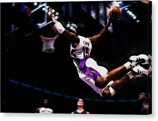 Toronto Raptors Canvas Print - Vince Carter Half Man And Half Amazing by Brian Reaves