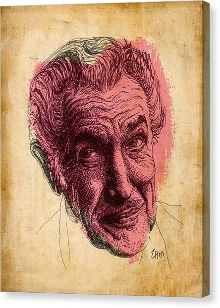 Fall Of The House Of Usher Canvas Print - Vincent Price by Zoe Wall