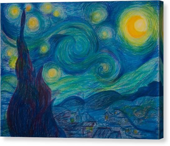 Vincent Starry Night Canvas Print by Elena Soldatkina