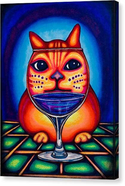 Vino Kats Canvas Print