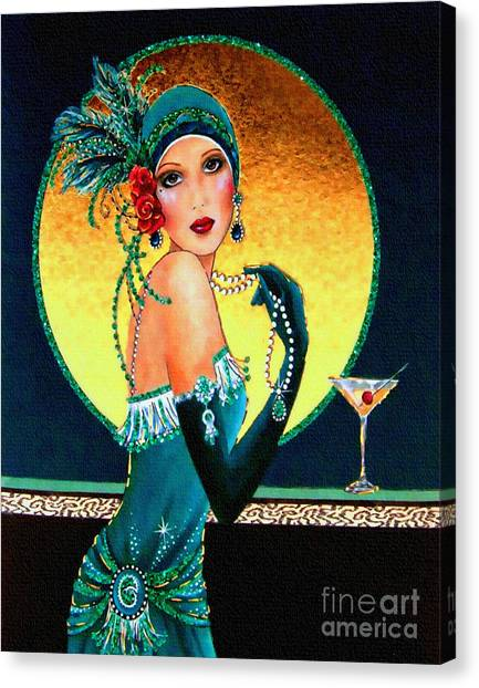 Vintage 1920s Fashion Girl  Canvas Print
