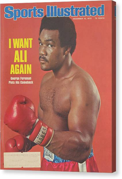 George Foreman Canvas Print - Vintage 1975 Sports Illustrated Cover Featuring George Foreman by Robert Kinser