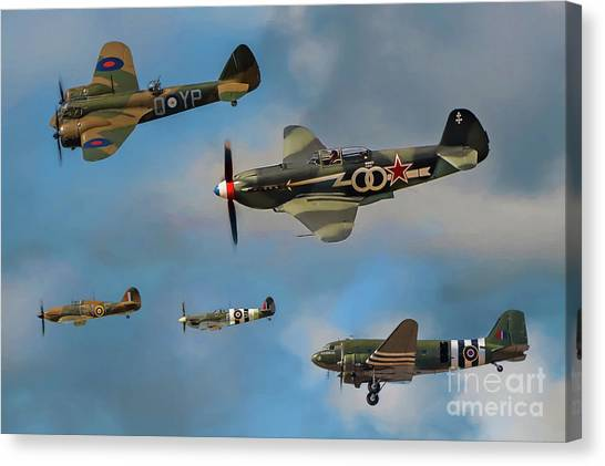 Yak Canvas Print - Vintage Aircraft by Adrian Evans
