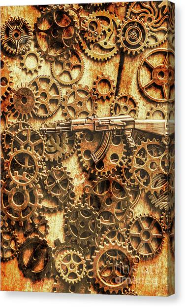 Russian Art Canvas Print - Vintage Ak-47 Artwork by Jorgo Photography - Wall Art Gallery
