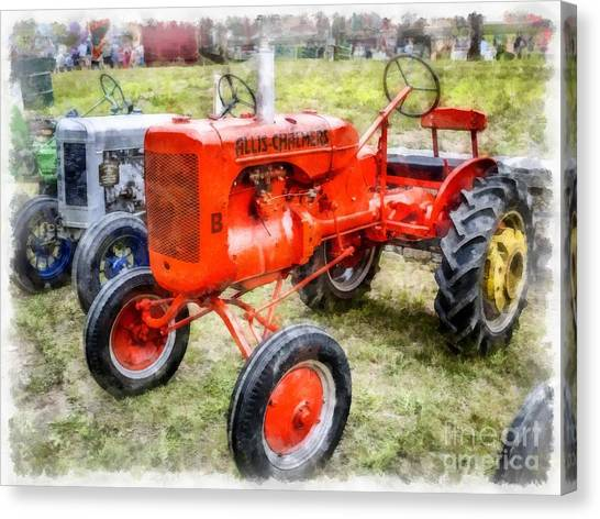 John Deere Canvas Print - Vintage Allis-chalmers Tractor Watercolor by Edward Fielding
