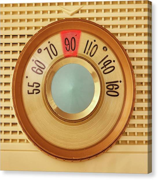 Retro Canvas Print - Vintage Am Radio Dial by Jim Hughes