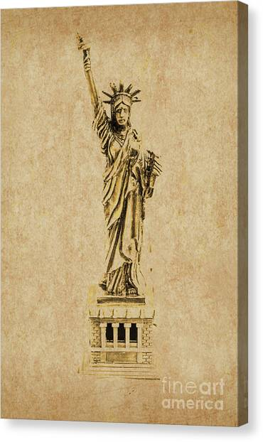 Statue Of Liberty Canvas Print - Vintage America by Jorgo Photography - Wall Art Gallery