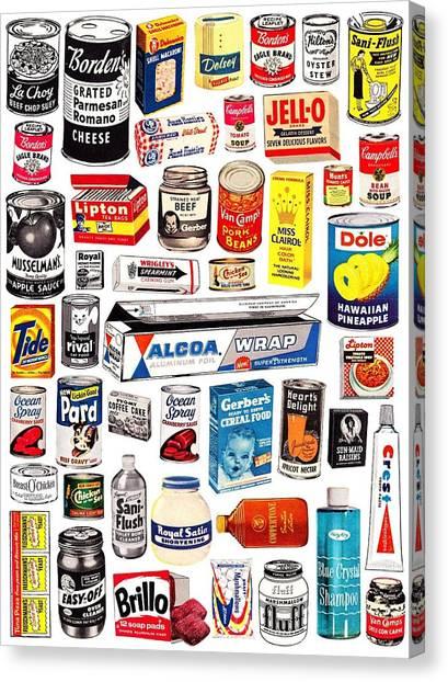 Vintage American Brands Canvas Print