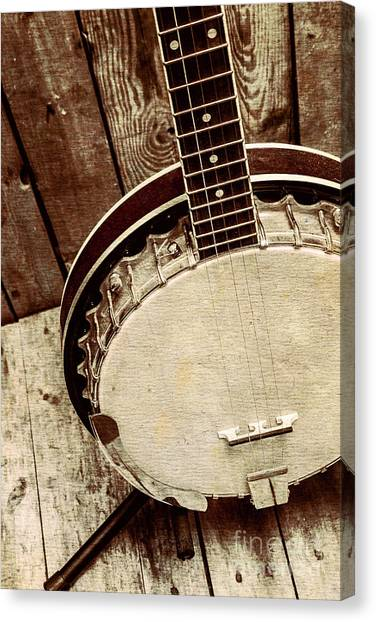 Stringed Instruments Canvas Print - Vintage Banjo Barn Dance by Jorgo Photography - Wall Art Gallery