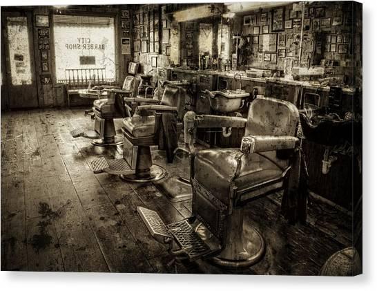 Vintage Barber Shop Canvas Print