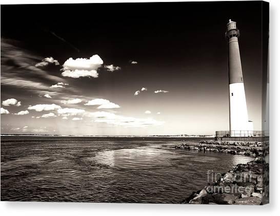 Vintage Barnegat Lighthouse Canvas Print by John Rizzuto