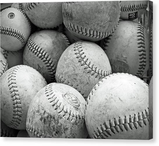Vintage Baseballs Canvas Print