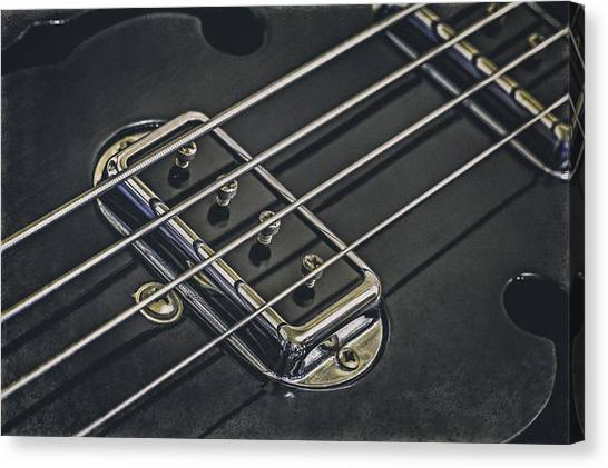 Rhythm Canvas Print - Vintage Bass by Scott Norris