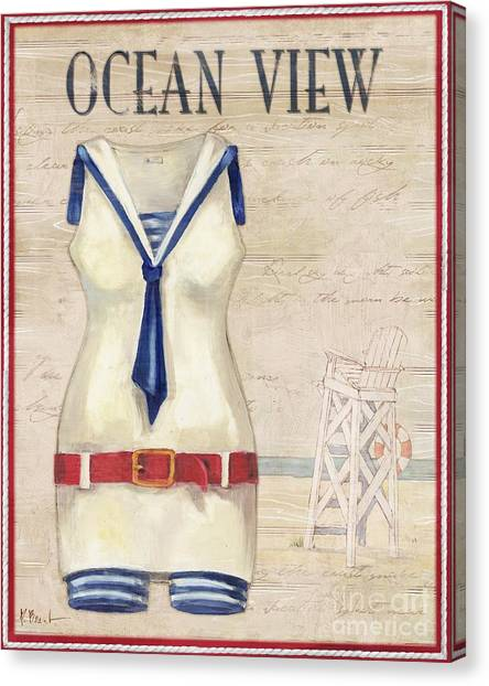 Vintage Bathing Suits IIi Canvas Print by Paul Brent