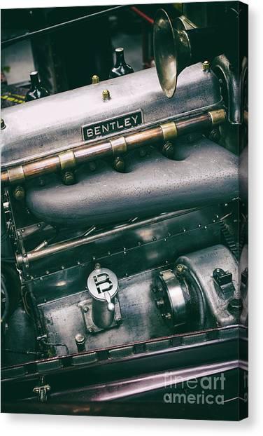 Brunch Canvas Print - Vintage Bentley Engine by Tim Gainey
