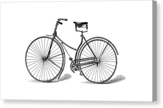 Canvas Print featuring the digital art Vintage Bike by ReInVintaged
