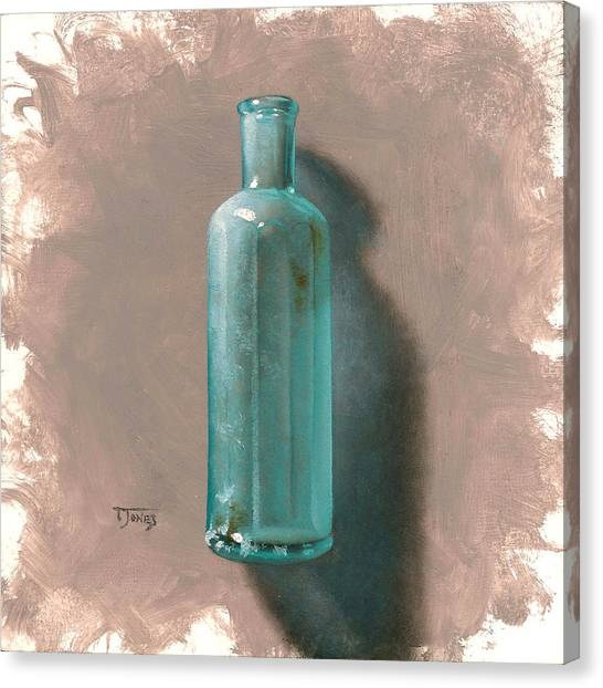 Vintage Blue Bottle Canvas Print by Timothy Jones