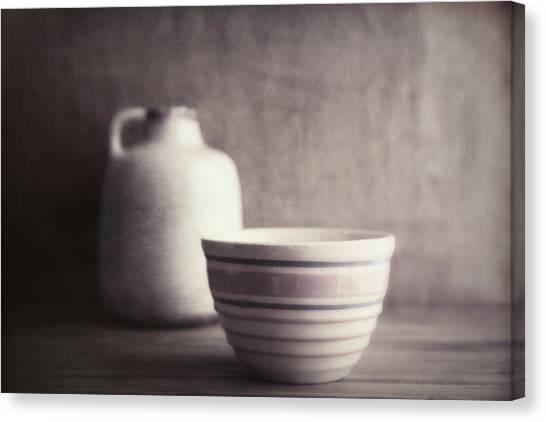 Crocks Canvas Print - Vintage Bowl With Jug by Tom Mc Nemar