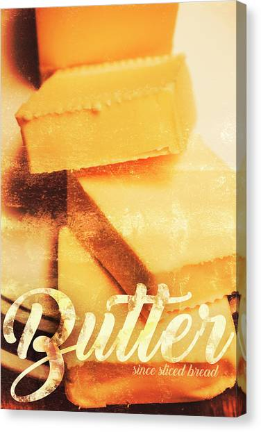 Bakery Canvas Print - Vintage Butter Advertising. Kitchen Art by Jorgo Photography - Wall Art Gallery