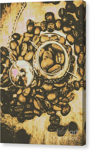 Caffeine Canvas Print - Vintage Cafe Artwork by Jorgo Photography - Wall Art Gallery