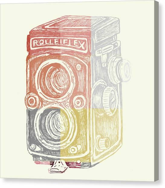 Vintage Camera Canvas Print - Vintage Camera by Brandi Fitzgerald
