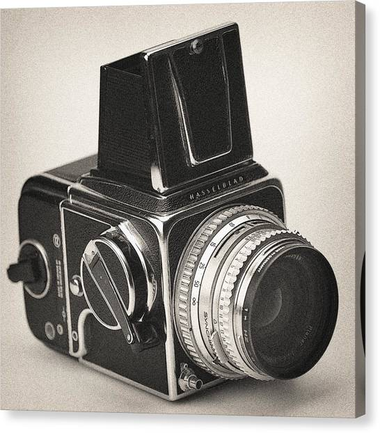 Canvas Print featuring the photograph Vintage Camera Hasselblad 500cm by Georgi Djadjarov