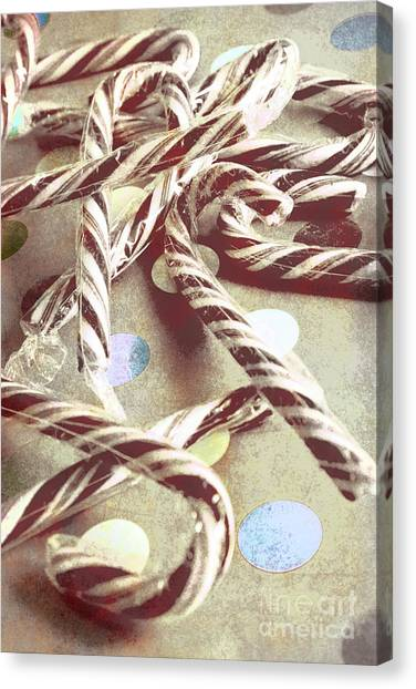 Present Canvas Print - Vintage Candy Canes by Jorgo Photography - Wall Art Gallery