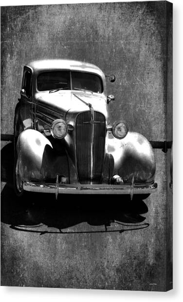 Vintage Car Art 0443 Bw Canvas Print