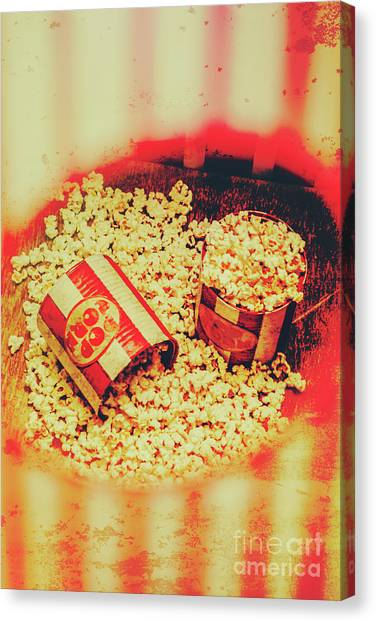 Popcorn Canvas Print - Vintage Carnival Snack Booth by Jorgo Photography - Wall Art Gallery