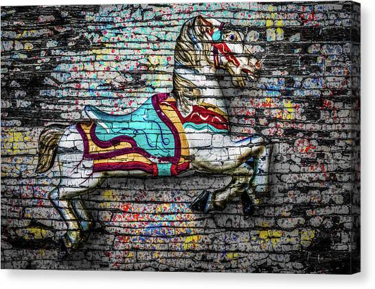 Vintage Carousel Horse Canvas Print