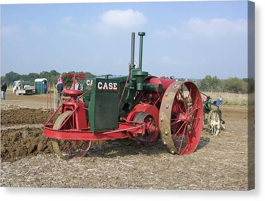 Vintage Case Tractor Canvas Print by Gerry Walden