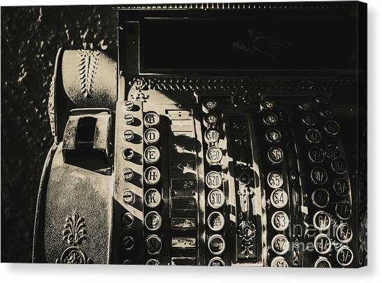 Currency Canvas Print - Vintage Cash Register by Jorgo Photography - Wall Art Gallery